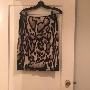 DVF Diane Von furstenberg Animal skirt size 6